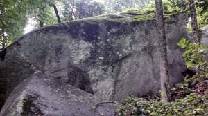 One of several enormous boulders lining the bottom portion of Mount Yohan