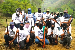 Community self-defense group in Aquila, Mexico