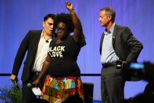 Black Lives Matter protesters interrupted the Netroots Nation conference to challenge Democratic presidential candidates on addressing police violence and white supremacy. Their responses were less than impressive.